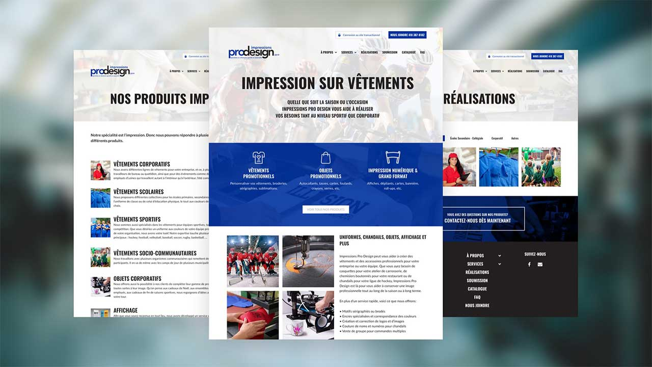Impression Pro Design site web